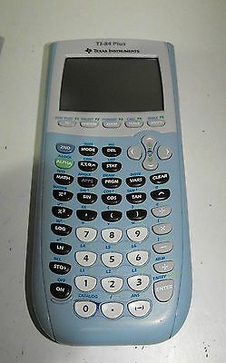 """Texas Instruments TI-84 Plus Blue Graphic Calculator Great Condition """"GWO"""""""