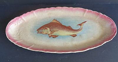 Antique Turin China Paden City Elongated & Signed Fish Platter - Stunning
