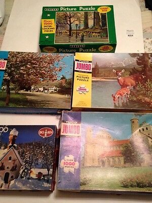 Box of 1000 Piece Puzzles