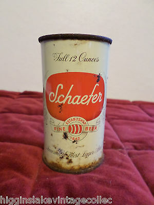 Vintage Schaefer America's Oldest Lager Albany NY Flat Top Beer Can
