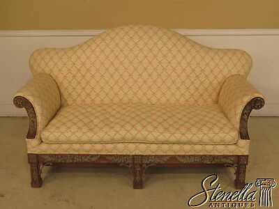 23510: Carved Chippendale Style Decorator Frame Sofa