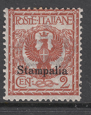 ITALIAN OCCUP. of DODECANESE Is. STAMPALIA 3M 2c Brown OVPT Mint Light Hinged