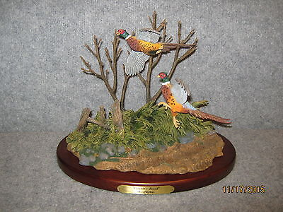 Terry Redlin Limited Edition Country Road Pheasant Sculpture. Only 4500 Made