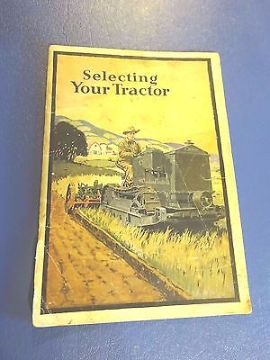 1920's Cleveland Tractor Co, Selecting Your Tractor Booklet, Cletrac