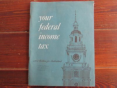 1965 Federal Income Tax Booklet for Individuals