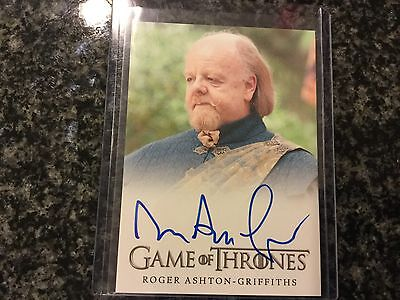 Roger Ashton-Griffiths Game Of Thrones On Card Auto Amazing Card Great TV Show