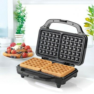 Salter Deep Fill Waffle Maker Toaster White Automatic temperature controls