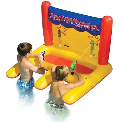 Pool Arcade Dual Shooter Squirt Toy, Inflatable Water Games, Swimline Swimming
