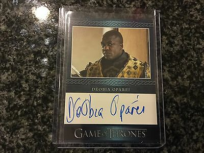 Deobia Oparei Game Of Thrones On Card Auto Amazing Card Great TV Show