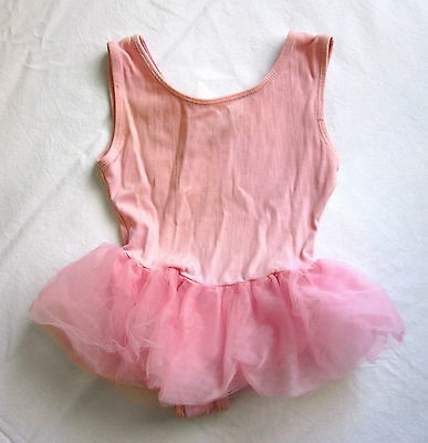 Body Motion Pale Pink Tutu Leotard XS 4-5 Years Ballet Dance Sleeveless Tulle