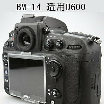 BM-14 Replacement Hard LCD Cover Screen Protector for Nikon D600 D610 D750  BM14
