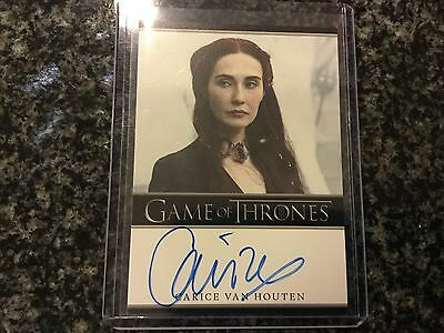 Carice Van Houten Game Of Thrones OnCard Auto Amazing Card Great Show