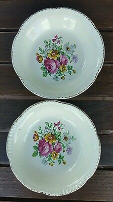 Woods Ivory Ware Bowls x 2