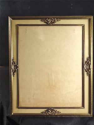 c. 1900's Brass Art Nouveau Picture Frame w/An Inner Highly Decorated Frame