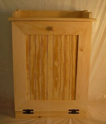 Handcrafted Solid Pine Unfinished Trash Container