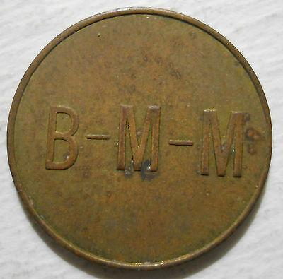 Bryn Mawr Mall (Pennsylvania) parking token - PA3136D