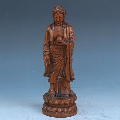 Exquisite Chinese wood hand-carved Buddha statue
