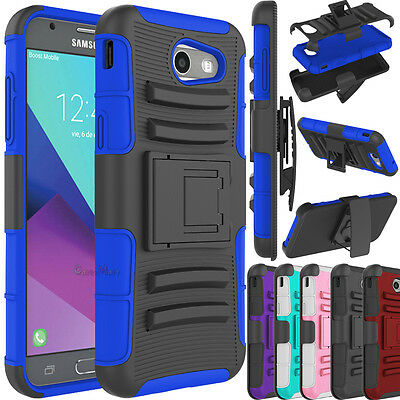 For Samsung Galaxy J3 Emerge / J3 (2017) Case Protective Kickstand Phone Cover