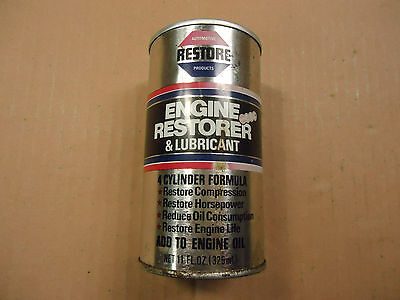 Vintage can of 4-cylinder formula RESTORE engine restorer & lubricant, estate
