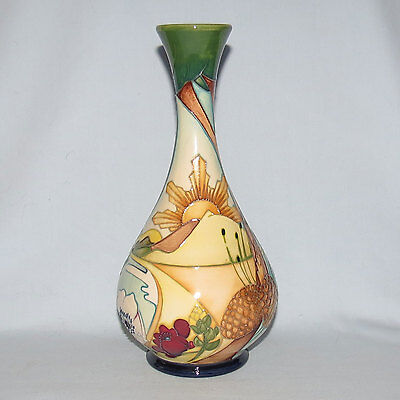 Moorcroft Australian In Honour Of Anzac Collection Lone Pine Trial Vase