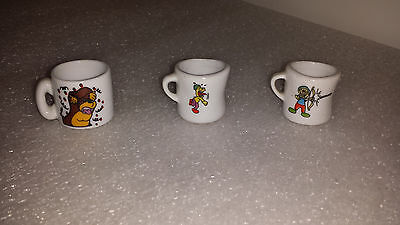 Mini Coffee Mugs with charaters Small collector mugs