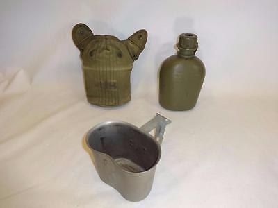 Original Us Military Vietnam Era Canteen With Cover & Cup
