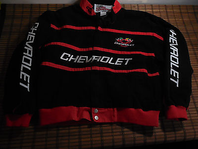 NASCAR Team Chevrolet Chevy Coat Jacket Men's XL Black Red