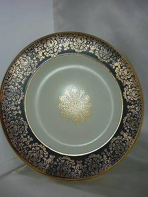 Rare ~Vintage  H. Aynsley & Co England 22 KT Gold ''Imperiale '' 17cm Plate