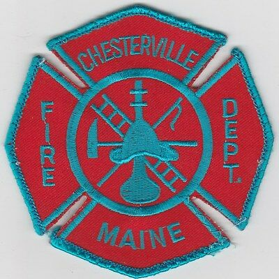 Chesterville, Maine Fire Dept patch  ME  old style