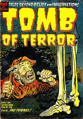"""TOMB OF TERROR #9 VG Elias Cvr/Art Powell's """"The Tunnel"""" 1953 Sparling Nostrand"""