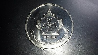 1983 St. John's Ambulance Medal - 100 Years Of Service For Canada