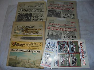 Harley Daytona Sturgis news paper and brochures 80's and 90's