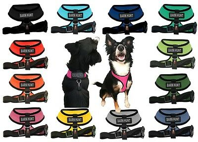BARN HUNT Mesh Padded Soft Puppy Pet Dog Harness Breathable 12 Colors 5 Sizes