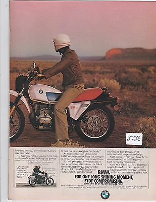 BMW R80 G/S GS  2pg vintage motorcycle advertisement Ad 1981