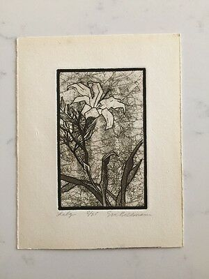 Eric Bellman Lily Etching 8 Of 25