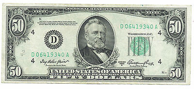 $50 Dollar US Federal Reserve Note Series 1950 A