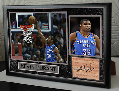 Kevin Durant Signed Tribute Framed Great Gift