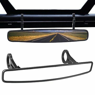 15'' Wide Angle Rearview Race Convex Mirror Clamp for Polaris RZR800 1000 XP900