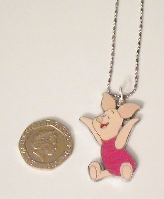 New Disney Winnie The Pooh's Friend Piglet 925 Sterling Silver Necklace Style1