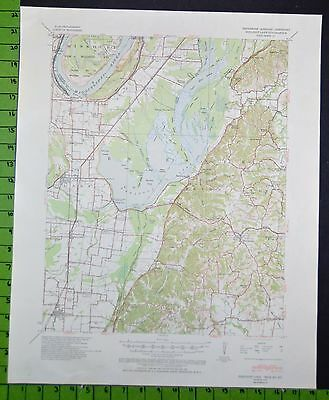 Reelfoot Lake Tennessee 1939 Topographic Map 18x22 Inches
