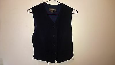 Country Road designer navy blue lined vest as new 8