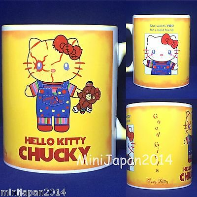 Hello kitty x Chucky original design 11 oz cup coffee mug LadyKitty cute