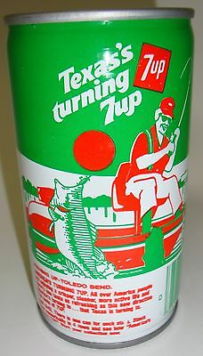 Seven 7 UP Soda Texas Turning 7UP Steel Can