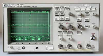 HP (Agilent) 83475A Lightwave Communications Analyzer and 500MHz Oscilloscope