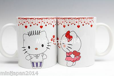 Hello kitty & Dear Daniel valentine 2017 pair mug 11 oz cup original design