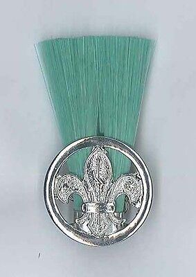 AFRICAN SCOUTS OF ZIMBABWE - Scout Master (SM) (GREEN) Metal Plume / Hat Patch