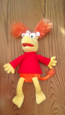 Red Fraggle Rock  Soft Toy Beanie Plush Retro Toy
