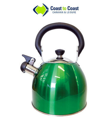 Coast Green Kettle 2.5L Stainless Steel - Cookware Caravan RV Motor Home Camper