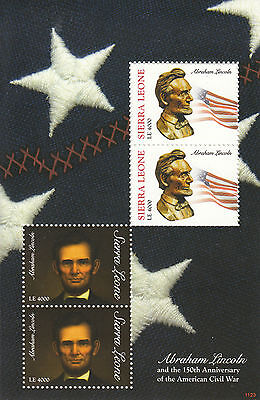Sierra Leone 2011 MNH Abraham Lincoln American Civil War 150th 4v M/S Stamps