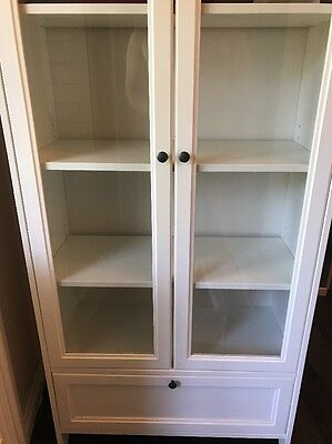 Ikea Glass Cabinet With 1 Drawer In White